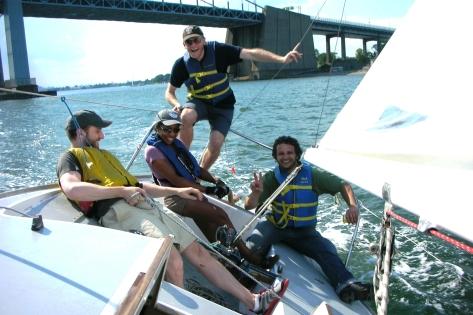 Bridge Photo with Yvette, Max, Marmaduke