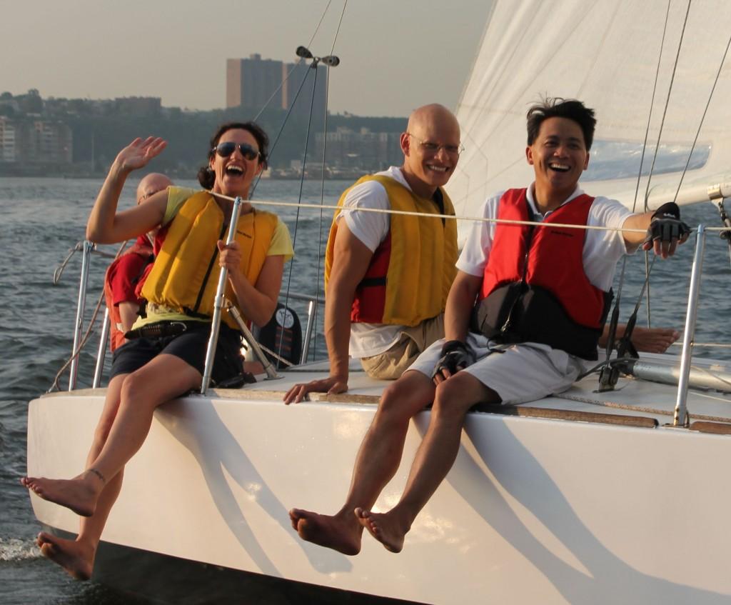 Members Sailing Smiling